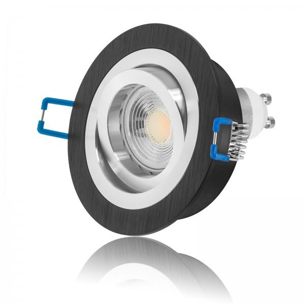 LED Einbaustrahler Set mit dimmbarer Farbtemperatur 1800K-3000K GU10