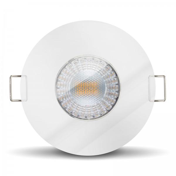 LED Einbaustrahler Set dimmbare steuerbare Farbtemperatur 2000K-3000K inkl. Einbaurahmen 230V 7W 24m
