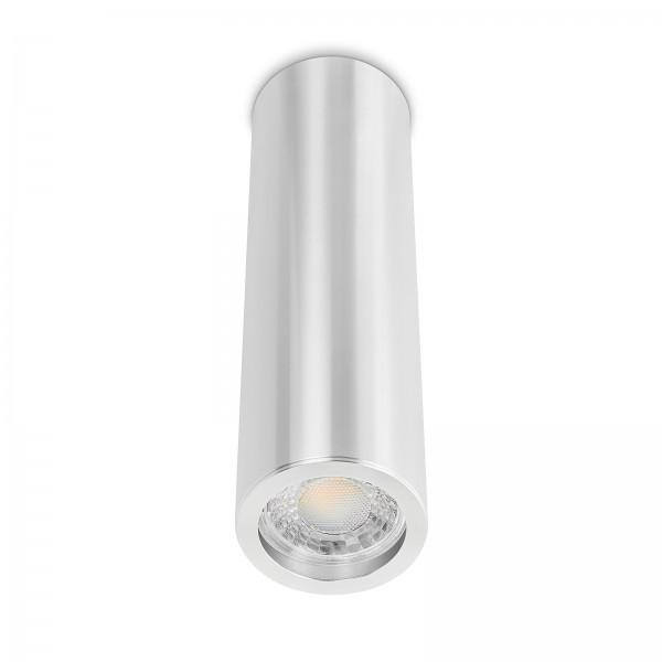 Tube Pure Aufbauleuchte - Aufbaurahmen silber poliert Aluminium 24cm 230V 7W GU10 3000K
