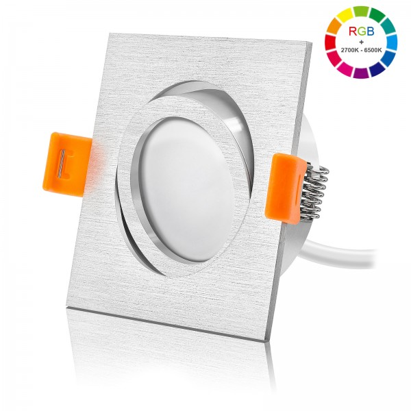 Ledox RGB Led Einbaustrahler Set dimmbar schwenkbar & austauschbar inkl. Einbaurahmen Forma E 230V 6W Modul inkl. Trafo Alle Farben