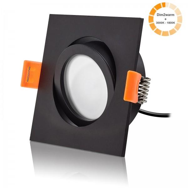 LED Einbaustrahler Set dimmbare Farbtemperatur 1800K-3000K inkl. Forma ES Einbaurahmen 230V 7W Modul extra flach