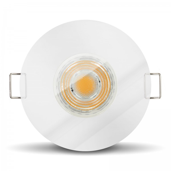 LED Bad Einbaustrahler Set IP65 dimmbar + Einbaurahmen chrom 230V 10W GU10 I 80W Ersatz