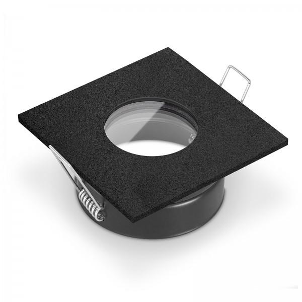LISTA AQUA Feuchtraumleuchte IP65 schwarz - für Led & Halogenleuchtmittel geeignet Badeinbauleuchte