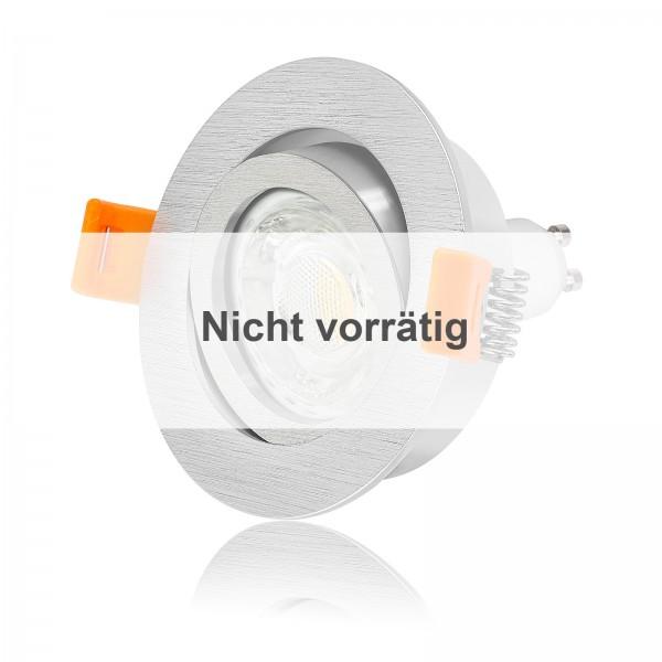 FORMA R LED Einbaustrahler Set dimmbar & schwenkbar inkl. Einbaurahmen gebürstet 230V 10W GU10