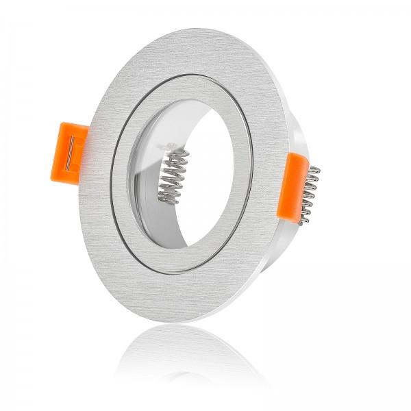 Forma Aqua Bad Einbaurahmen IP44 Aluminium gebürstet rund geeignet für Led & Halogen Leuchtmittel
