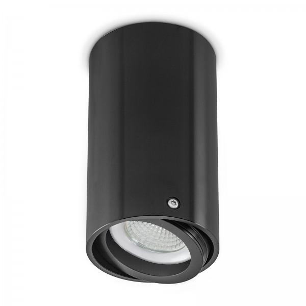 Led Aufbaulampen Set schwenkbar in schwarz mit 6W Led Modul