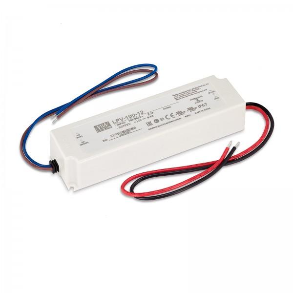 LED Trafo von Mean Well IP67 100W 12V Konstantspannung mit Überlastschutz & Kurzschluss