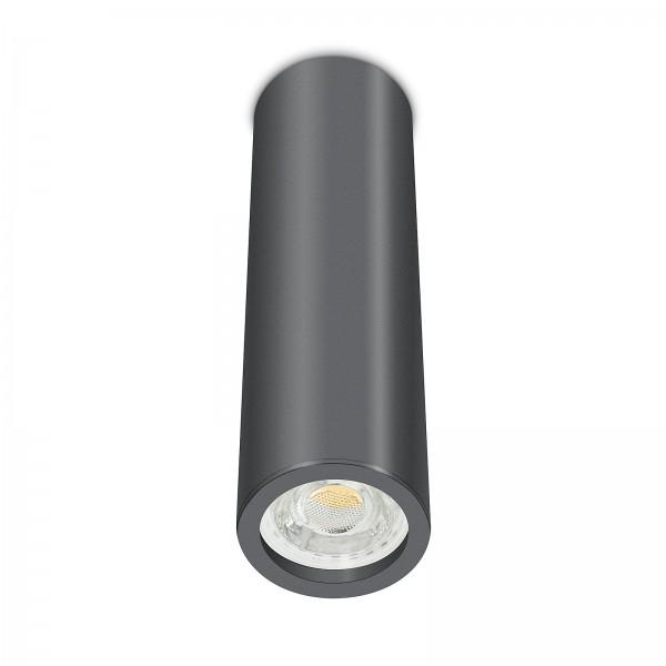 Tube Pure Aufbauleuchte - Aufbaurahmen anthrazit Aluminium 24cm 230V 10W GU10 3000K dimmbar