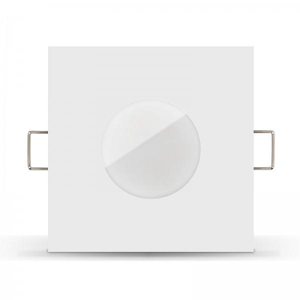 LISTA AQUA LED Bad Einbaustrahler Set IP65 dimmbar inkl. Einbaurahmen weiß 230V 6W Modul inkl. Mini Trafo Ra>80
