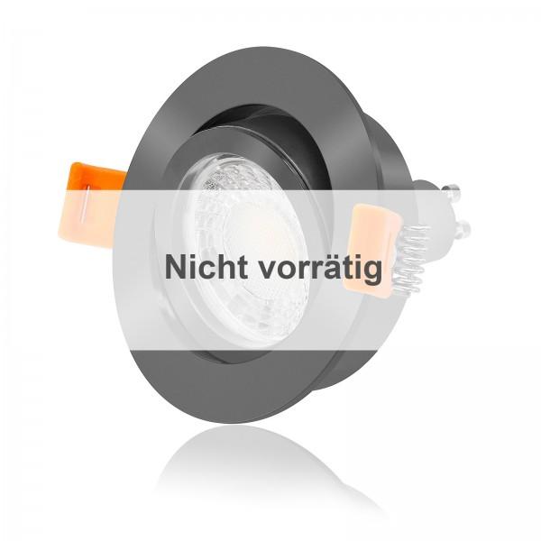 FORMA RA LED Einbaustrahler Set dimmbar & schwenkbar inkl. Einbaurahmen anthrazit 230V 7W GU10 3000K