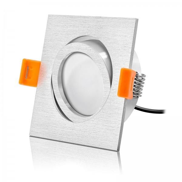 Led Premium Einbaustrahler Set Forma dimmbar und schwenkbar mit 6W Modul extra flach