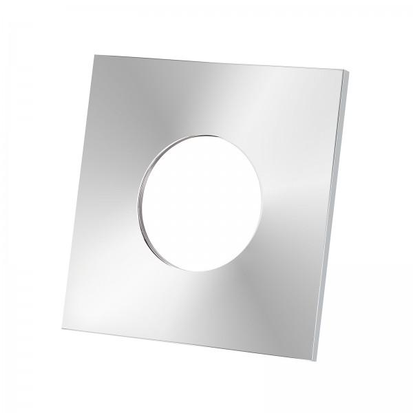 Lista Aqua Einzelblende chrom aus Aluminium eckig passend für Lista Aqua Modul IP65