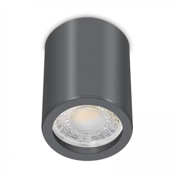 Tube Pure Aufbauleuchte - 230V 7W Modul 60° Abstrahlung - dimmbar - Aufbaurahmen anthrazit Aluminium 10cm