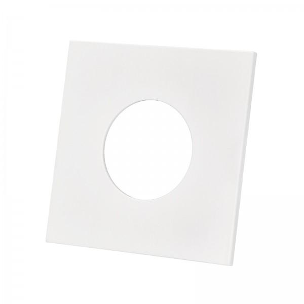 Lista Aqua Einzelblende matt weiß aus Aluminium eckig passend für Lista Aqua Modul IP65