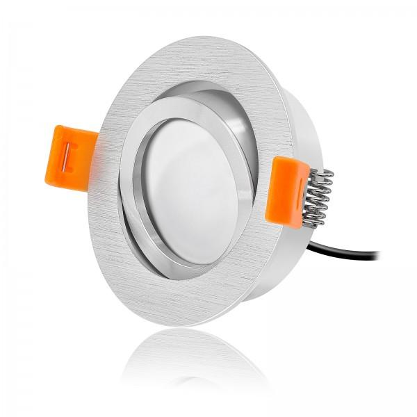 FORMA R LED Einbaustrahler Set dimmbar inkl. Einbaurahmen Ring poliert 24V 6W Modul KNX DALI GOOGLE