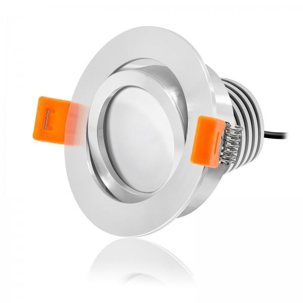 LED Einbaustrahler Set dimmbar & schwenkbar inkl. Einbaurahmen Forma RP 230V 10W Modul mit Ra>90