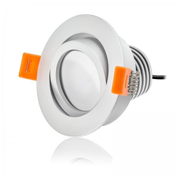 LED Einbaustrahler Set dimmbar & schwenkbar inkl. Einbaurahmen Forma RM 230V 10W Modul mit Ra>90