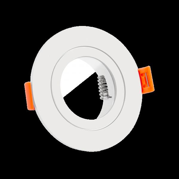 Forma Aqua Bad Einbaurahmen IP44 Aluminium in weiß rund geeignet für Led & Halogen Leuchtmittel