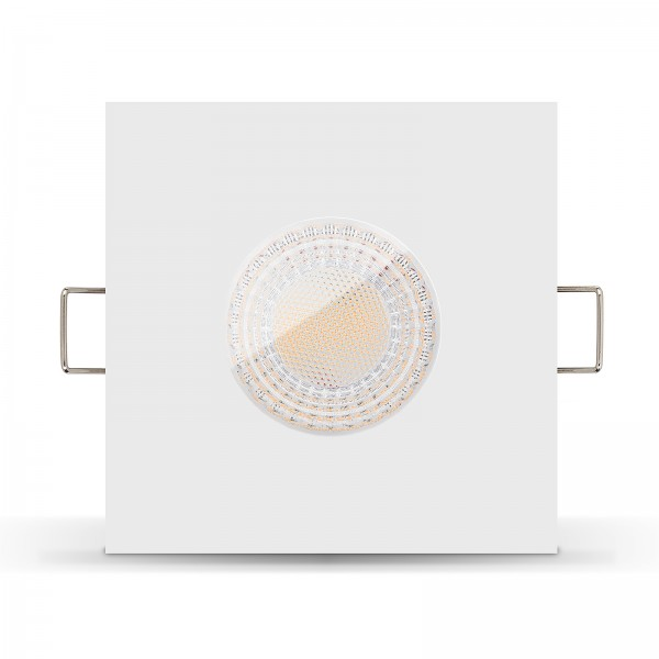 Ledox LISTA AQUA LED Bad Feuchtraumleuchte IP65 dimmbar inkl. Einbaurahmen chrom 230V 7W GU10 mit Ra>93