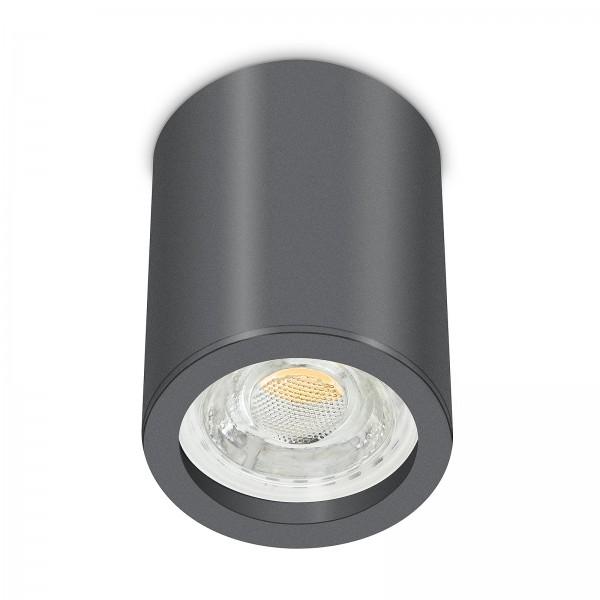 Tube Pure Aufbauleuchte - 230V 10W GU10 dimmbar - Aufbaurahmen anthrazit Aluminium 10cm