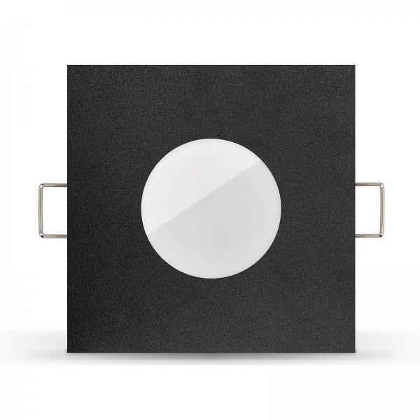 LISTA AQUA LED Bad Einbaustrahler Set IP65 dimmbar inkl. Einbaurahmen schwarz 230V 7W Modul inkl. Mini Trafo Ra>90
