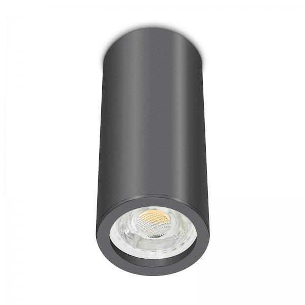 Tube Pure Aufbauleuchte - Aufbaurahmen anthrazit Aluminium 17cm 230V 10W GU10 3000K
