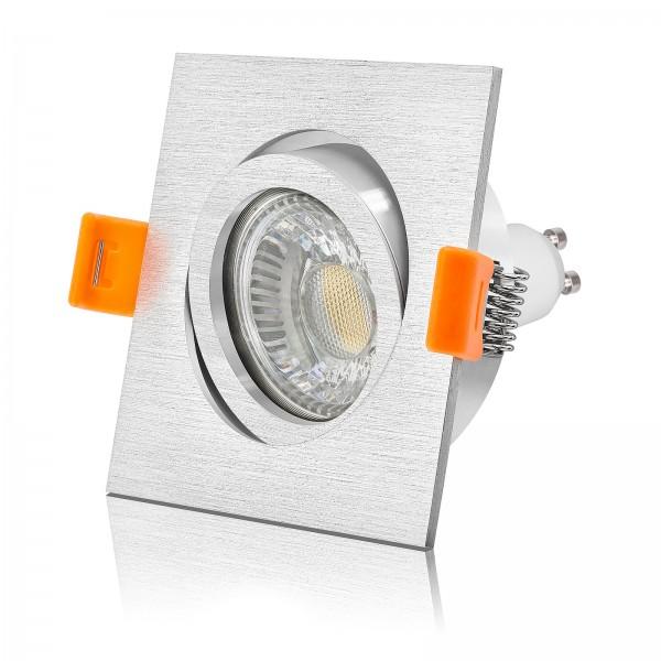 Led Premium Forma Einbaustrahler Set dimmbar und schwenkbar 230V 6W Gu10