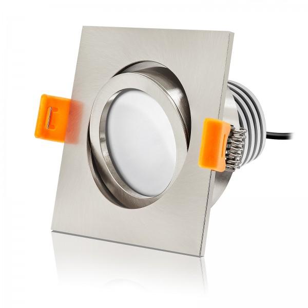Led Einbaustrahler von Ledox - dimmbar inkl. Einbaurahmmen 10W gebürstet 230V