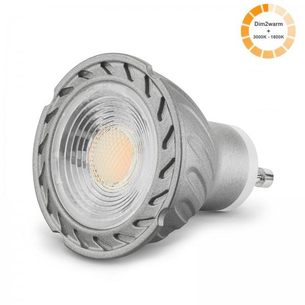 LED Leuchtmittel Glow GU10 1800k-3000K I 230V dimmbare Farbtemperatur 7W Spot Strahler