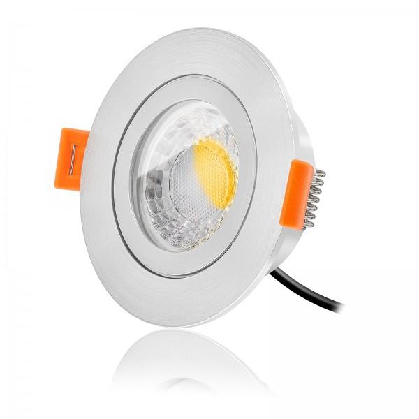 LED Bad Einbaustrahler Set IP44 dimmbar inkl. Forma RM Einbaurahmen 230V 7W Modul warmweiß