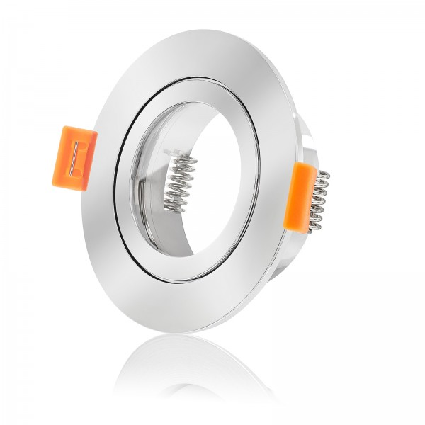Forma Aqua Bad Einbaurahmen IP44 Aluminium chrom rund geeignet für Led & Halogen Leuchtmittel
