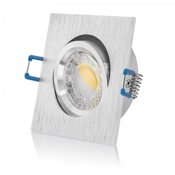 LED Einbauleuchte Set dimmbare Farbtemperatur 2000K-3000K gebürstet