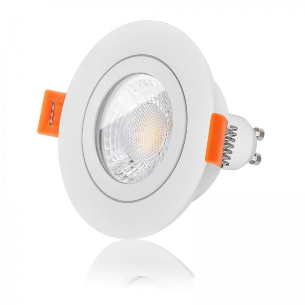 FORMA RW AQUA LED Bad Einbaustrahler Set IP44 dimmbar inkl. Einbaurahmen weiß 230V 7W GU10 Ra>93