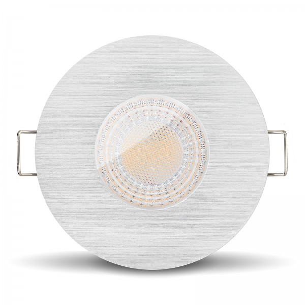 Ledox Led Bad Einbaustrahler IP65 7W GU10 gebürstet für Bad Dusche Feuchtraum GU10