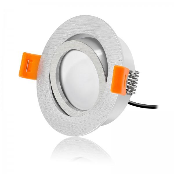 LED Einbaustrahler Set dimmbar & schwenkbar inkl. Premium Einbaurahmen Forma 230V 7W Modul inkl. Trafo