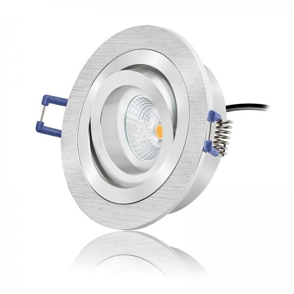 LED Einbaustrahler Set dimmbar 230V 6W Modul inkl. Trafo flach - 420lm 60° Abstrahlwinkel - 2700k warmweiß Ra>90
