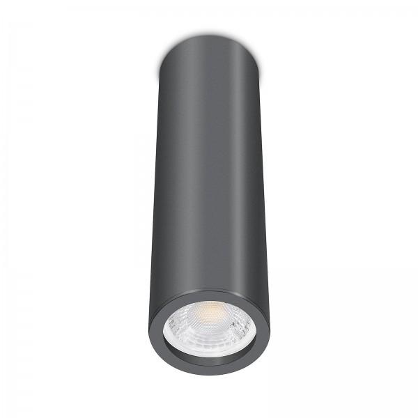 Tube Pure Aufbauleuchte - Aufbaurahmen anthrazit Aluminium 24cm 230V 7W GU10 dimmbar mit 93 Cri