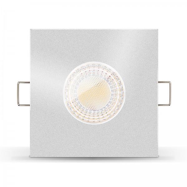 Ledox LISTA AQUA LED Bad Einbauleuchte IP65 dimmbar inkl. Einbaurahmen silber 230V 7W GU10 Ra>93