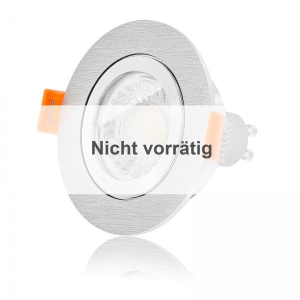FORMA R AQUA LED Bad Einbaustrahler Set IP44 dimmbar inkl. Bicolor Einbaurahmen gebürstet 7W GU10