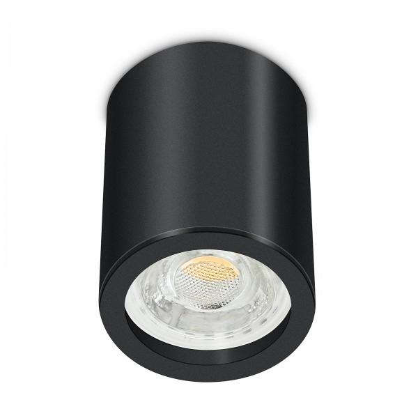 Tube Pure Aufbauleuchte - 230V 10W GU10 dimmbar - Aufbaurahmen schwarz Aluminium 10cm