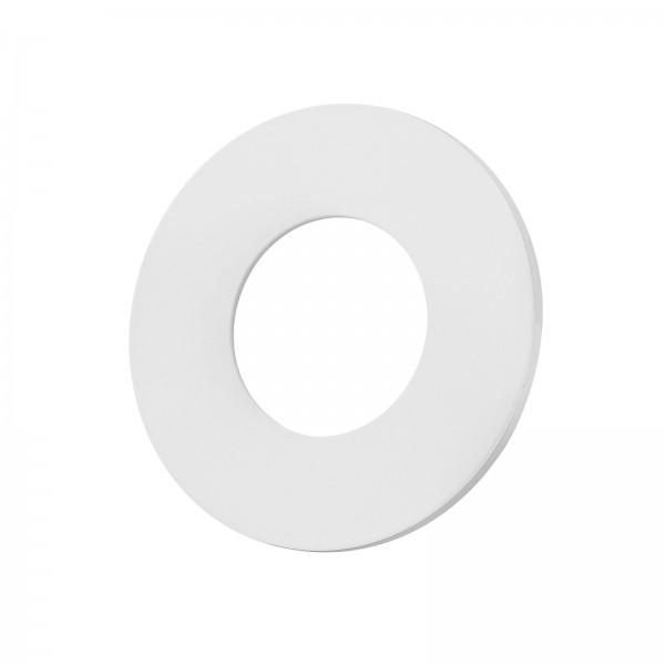 Lista Aqua Einzelblende matt weiß aus Aluminium rund passend für Lista Aqua Modul IP65