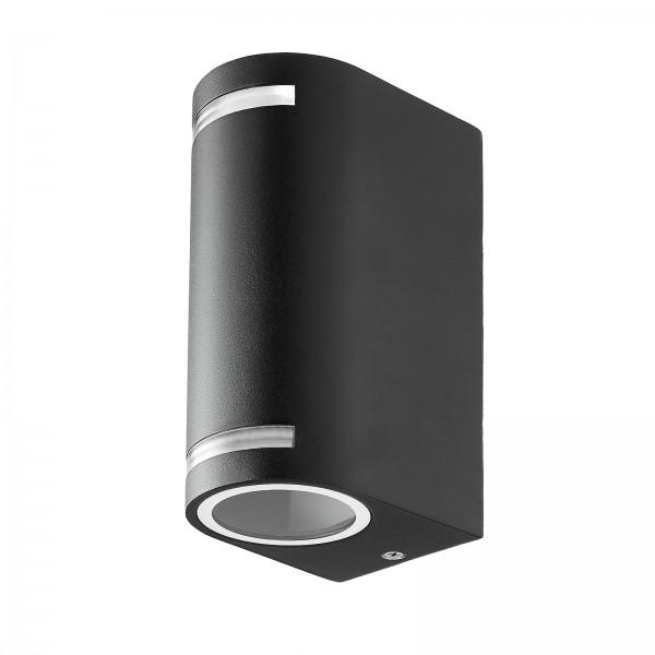 Novia Außenlampe Up & Down IP44 in schwarz