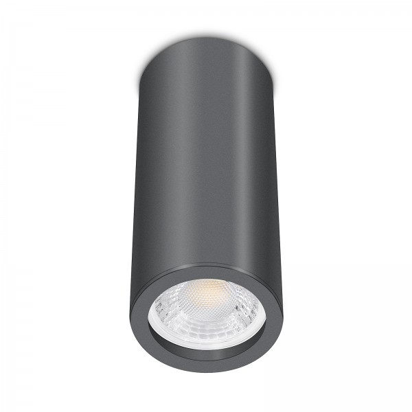 Tube Pure Aufbauleuchte - Aufbaurahmen anthrazit Aluminium 17cm 230V 7W GU10 dimmbar mit Ra93
