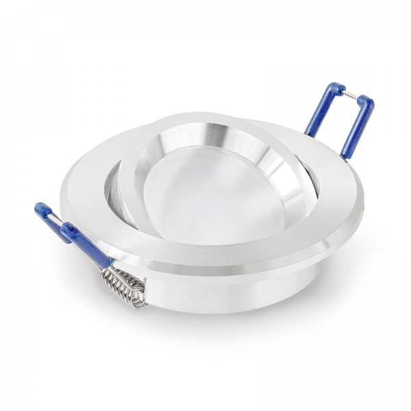 LED Einbaustrahler Set - dimmbar inkl. Einbaurahmen | 230V 10W 50mm EXTRA FLACH & HELL vv