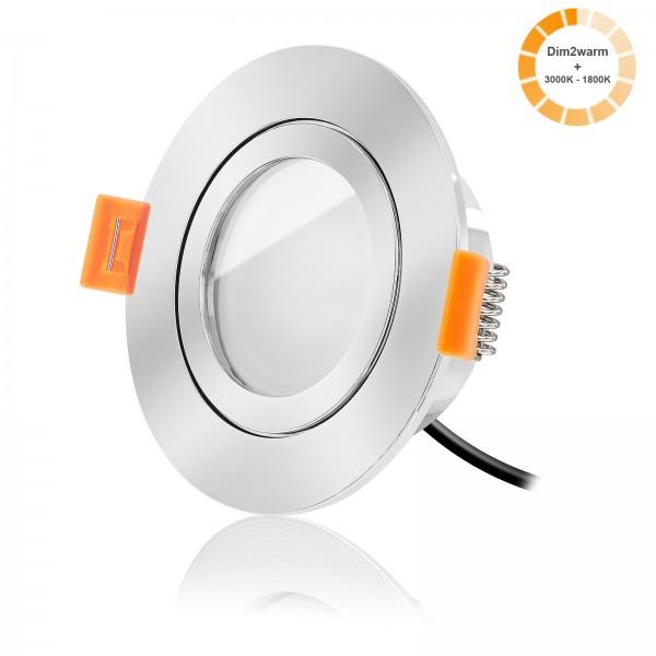 Forma Aqua LED Bad Einbaustrahler Set dimmbare Lichtfarbe 1800K-3000K inkl. Forma Einbaurahmen 230V 7W Modul warmweiß