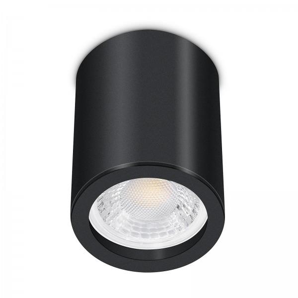 Tube Pure Aufbauleuchte - 230V 7W GU10 dimmbar - Aufbaurahmen schwarz Aluminium 10cm