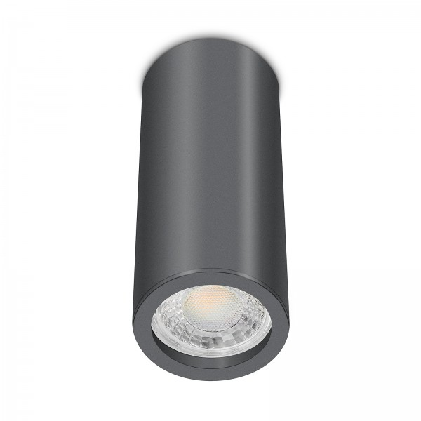 Tube Pure Aufbauleuchte - Aufbaurahmen anthrazit Aluminium 17cm 230V 7W GU10 3000K