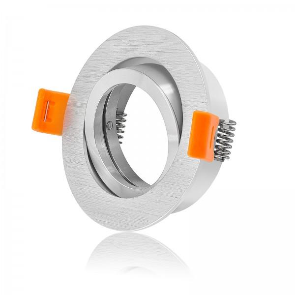 FORMA R Einbaurahmen schwenkbar aus Aluminium Bicolor gebürstet rund geeignet für Led & Halogen
