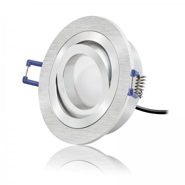 LED Einbaustrahler Modul dimmbar & schwenkbar inkl. Bicolor Einbaurahmen 230V 6W 2700k warmweiß 120° AW - ultra flach