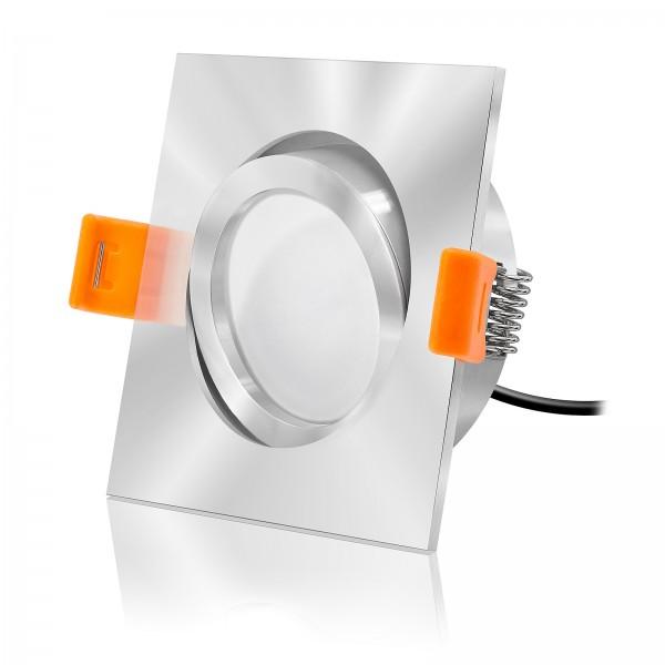 FORMA EC LED Einbaustrahler Set dimmbar & schwenkbar inkl. Einbaurahmen chrom 230V 6W Modul